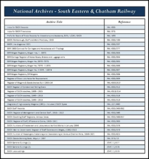 National Archive SECR Record Numbers.pdf